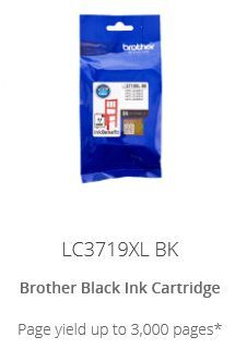 Brother LC3719XL Black Cartridge