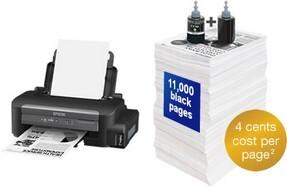 Epson M105, 37ppm, Mono Printer, Wifi, ITS Refillable Tank